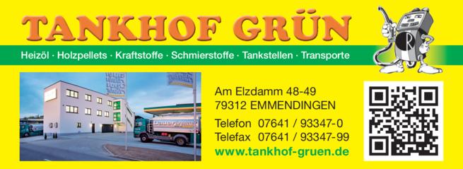 Anzeige Tankstelle Tankhof Grün