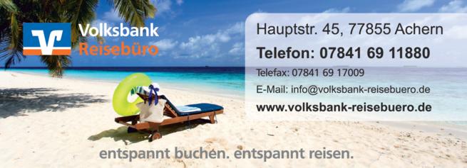 Anzeige Volksbank in der Ortenau eG Reisebüro