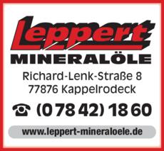 Anzeige Leppert Mineralöle GmbH