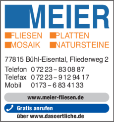 Anzeige Meier Günter