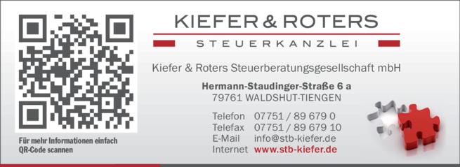 Anzeige Kiefer & Roters Steuerkanzlei