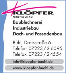 Anzeige Klöpfer GmbH & Co.KG