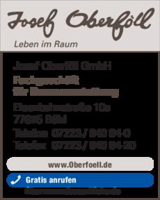 Anzeige Oberföll Josef GmbH