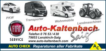 Anzeige Auto Kaltenbach