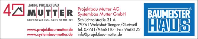 Anzeige Projektbau Mutter AG