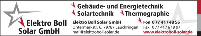 Anzeige Boll Domenik Elektro Boll Solar GmbH