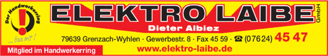 Anzeige Laibe GmbH Elektro