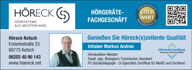 Anzeige Höreck Markus Andrae