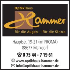 Anzeige Hammer Optikhaus