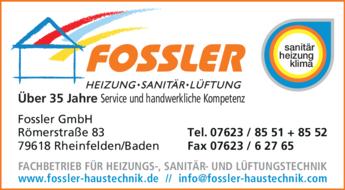 Anzeige Fossler GmbH