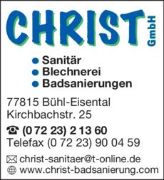 Anzeige Christ GmbH