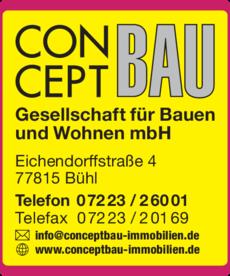 Anzeige Conceptbau Immobilien Gesellschaft für Bauen und Wohnen mbH
