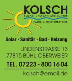 Anzeige Kolsch Christian