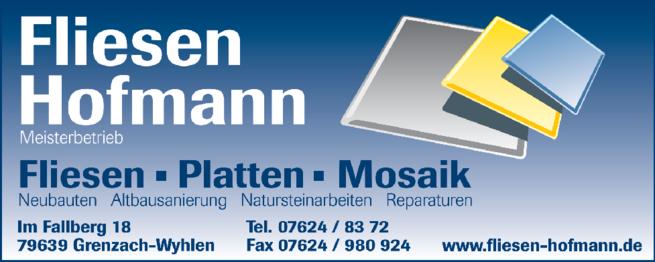 Anzeige Hofmann Fliesen