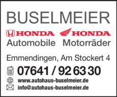 Anzeige Honda Buselmeier