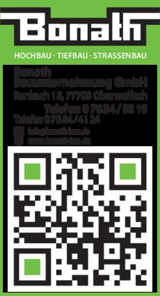 Anzeige Bonath Bauunternehmung GmbH