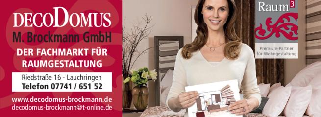 Anzeige Raumgestaltung DecoDomus M. Brockmann GmbH