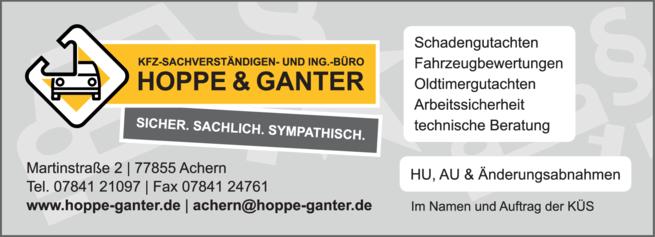 Anzeige Hoppe u. Ganter Kfz-Sachverständigenbüro