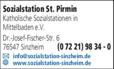 Anzeige Sozialstation St. Pirmin