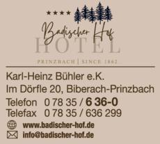 Anzeige Badischer Hof