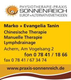 Anzeige Sonnenreich Physiotherapie-Praxis