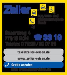 Anzeige Zeller Taxi