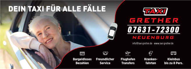 Anzeige TAXI GRETHER