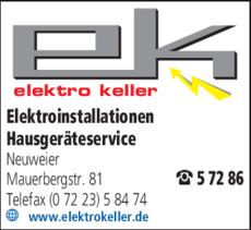 Anzeige Keller Elektro