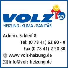 Anzeige Volz GmbH