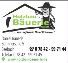 Anzeige Bäuerle GmbH Holzbau