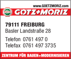 Anzeige Götz + Moriz GmbH
