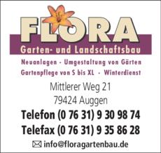 Anzeige FLORA Garten- und Landschaftsbau
