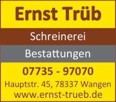 Anzeige Trüb Ernst