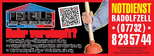 Anzeige Fehrle Rohr- und Kanaltechnik