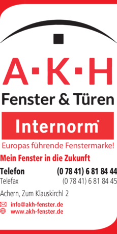 Anzeige A.K.H Fenster und Türen GmbH