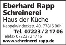 Anzeige Rapp Eberhard