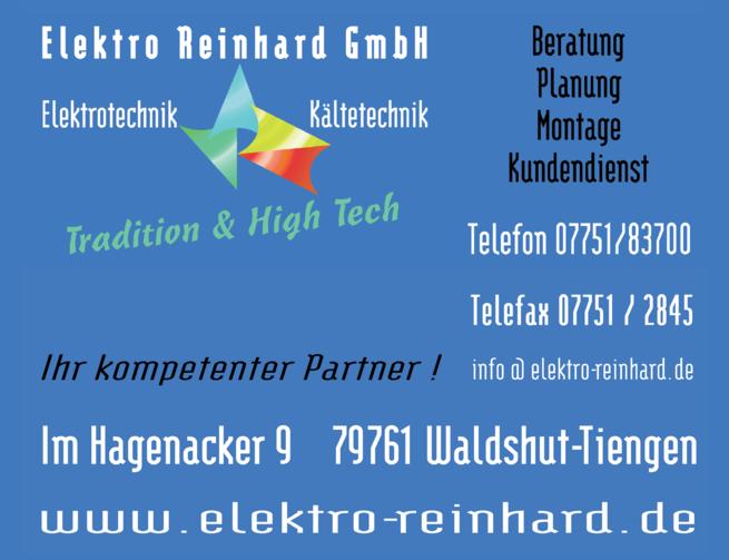 Anzeige Reinhard GmbH