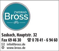 Anzeige Zweirad Bross