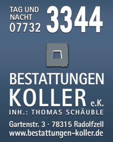 Anzeige Bestattungsinstitut Koller G. e.K.