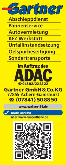 Anzeige Gartner GmbH & Co.KG