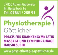 Anzeige Göttlicher Physiotherapie