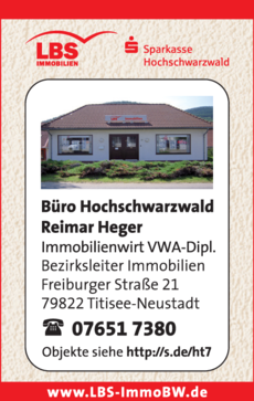 Anzeige LBS Heger Immobilien
