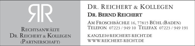 Anzeige Reichert Bernd Dr. & Kollegen