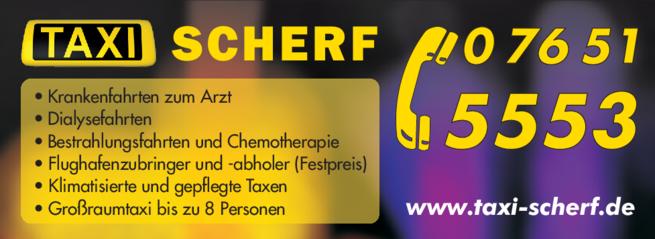 Anzeige Scherf Taxi