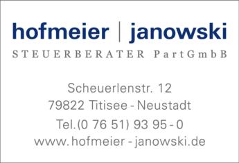 Anzeige Hofmeier & Janowski