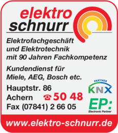 Anzeige Schnurr Elektro