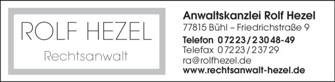 Anzeige Hezel Rolf