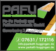 Anzeige PaFu Parkett- und Fußbodentechnik