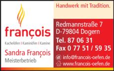 Anzeige Francois Sandra