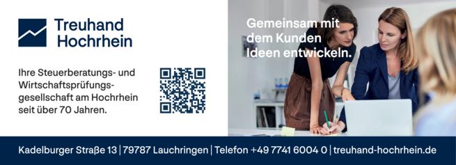 Anzeige Treuhand Tiengen Hochrhein GmbH